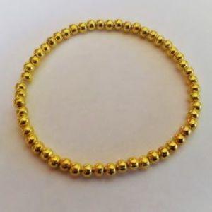 Gold Beaded Stacking Bracelet
